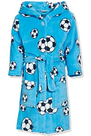 Playshoes Fleece-Bademantel Fußball, Accappatoio Bambino, Blu , 98