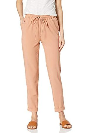 Daily Ritual Fluid Stretch Woven Twill Cuffed Pant Pants, Clay, US S