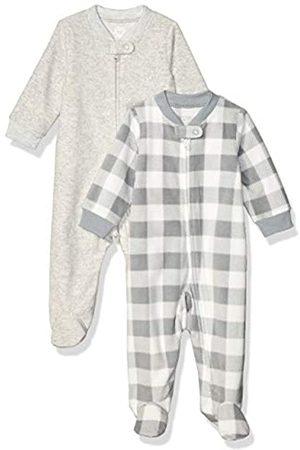 Amazon 2-Pack Microfleece Sleep And Play Infant Toddler-Sleepers, Buffalo Check, 3-6 Months