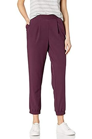 Daily Ritual Fluid Stretch Woven Twill Jogger Pant with Ribbed Cuff Pants, Fico, US XXL