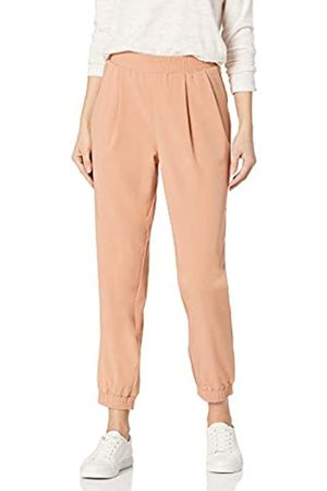 Daily Ritual Fluid Stretch Woven Twill Jogger Pant with Ribbed Cuff Pants, Clay, US S