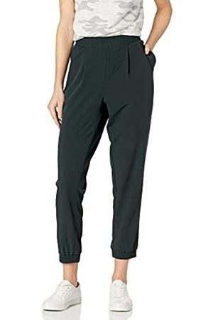 Daily Ritual Fluid Stretch Woven Twill Jogger Pant with Ribbed Cuff Pants, Muschio, US S