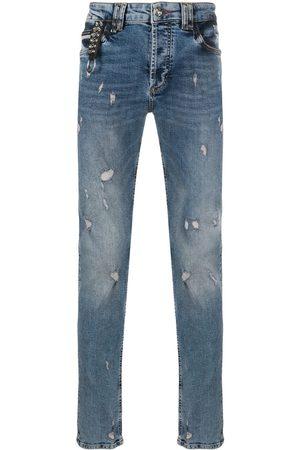 Philipp Plein Jeans taglio straight con effetto vissuto