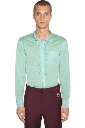 Prada Camicia In Jersey Con Ruches
