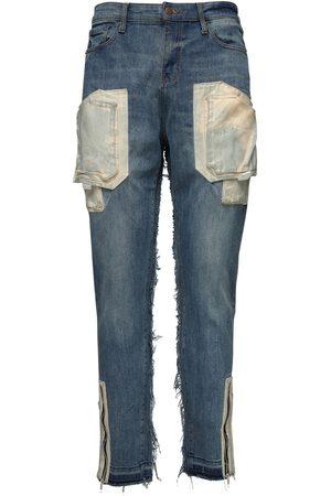VAL. KRISTOPHER Jeans Carico In Denim Di Cotone 15cm