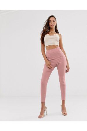 ASOS Pantaloni skinny a vita alta