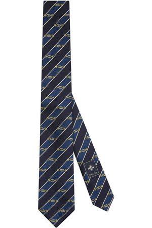 Gucci Uomo Cravatte - Cravatta in seta motivo jacquard con Morsetto GG