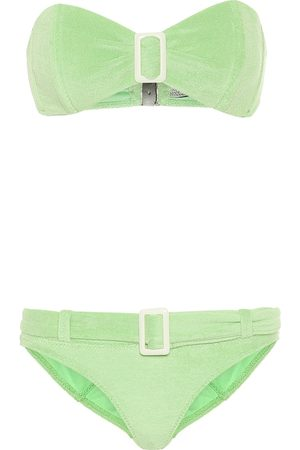 Lisa Marie Fernandez Bikini Buckle in spugna stretch