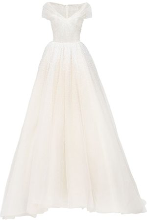 GEORGES HOBEIKA Abito Off-the-shoulder In Organza