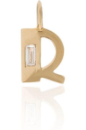 Lizzie Mandler Ciondolo a R in 18kt e diamanti - YELLOW GOLD