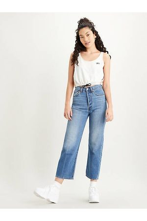 Levi's Ribcage Straight Ankle Jeans Indigo / At The Ready
