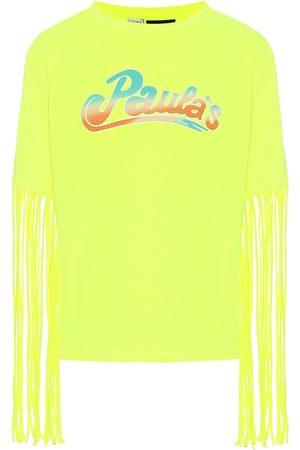 Loewe Paula's Ibiza - T-shirt in misto cotone con frange
