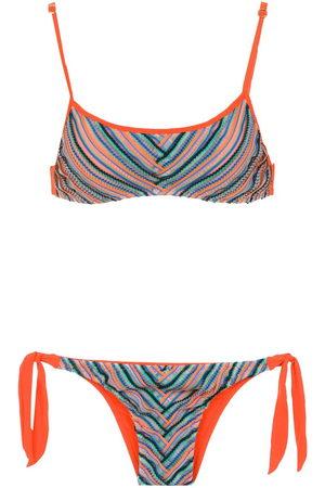 AMIR SLAMA Top bikini con stampa