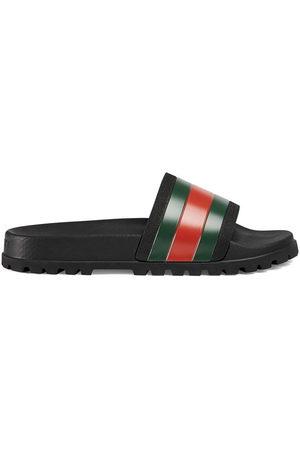 Gucci Ciabatte con dettaglio Web - Di colore