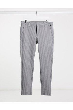 Only & Sons Pantaloni eleganti stretch gessato