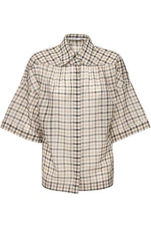 Agnona Camicia In Lana E Seta Check