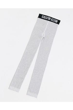 Calvin Klein Leggings con logo icona grigi