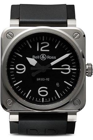 Bell & Ross Orologio 'BR 03-92 Steel 42mm' - BLACK B BLACK