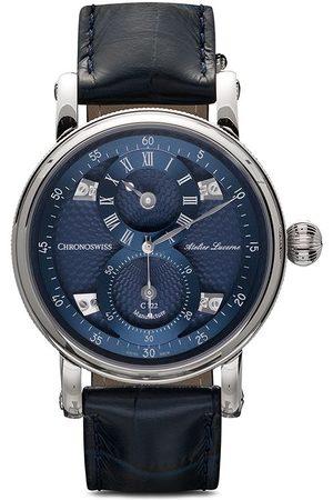 Chronoswiss Orologio Flying Regulator Manufacture 40mm - BLUE