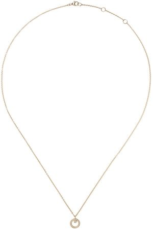 Georg Jensen Donna Collane - Collana Halo in 18kt con pendente - YELLOW GOLD