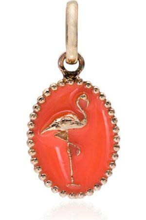 GIGI CLOZEAU Ciondolo con fenicottero in oro rosa 18kt - ORANGE
