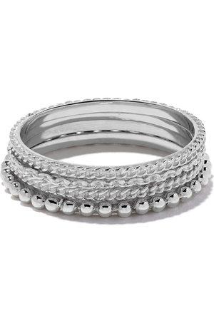 WOUTERS & HENDRIX Set quattro anelli in oro 18kt - Effetto metallizzato