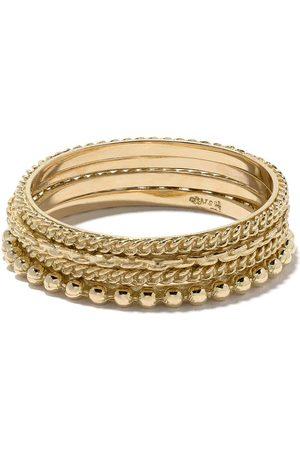 Wouters & Hendrix Gold Set quattro anelli in oro 18kt - Effetto metallizzato