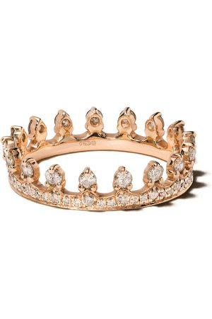 ANNOUSHKA Anello a corona in 18kt con diamanti - 18ct Rose Gold