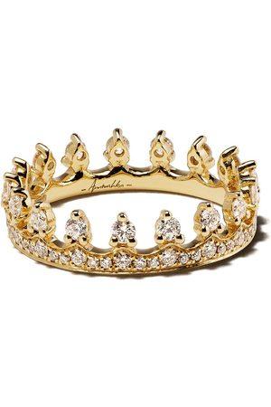ANNOUSHKA Anello a corona in 18kt e diamanti - 18ct Yellow Gold