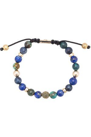 Nialaya Bracciale con perline in lapislazzuli e dumortierite