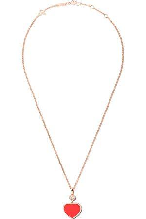Chopard Collana 'Happy Hearts' in bianco 18kt e diamanti con pendente - ROSE GOLD