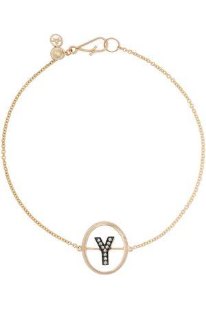 ANNOUSHKA Bracciale con lettera Y in 18kt con diamanti - 18ct Yellow Gold