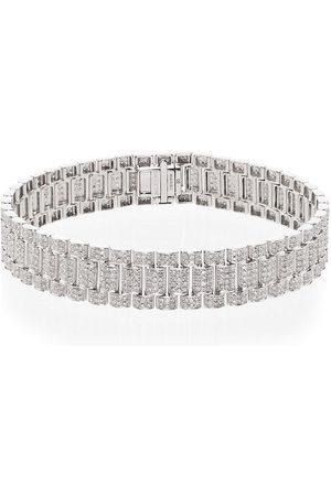 Shay Bracciale in oro bianco 18kt con pavé di diamanti - METALLIC