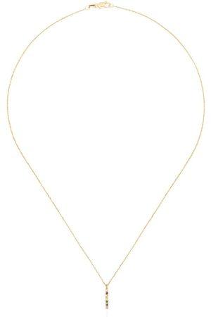 Mateo Donna Collane - Collana in 14kt con zaffiri e diamanti - YELLOW GOLD