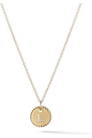 David Yurman Collana Cable Collektibles in oro giallo 18kt e diamanti con pendente e lettera L - 88ADI