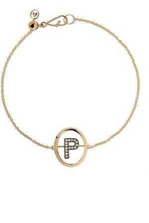 ANNOUSHKA Donna Bracciali - Bracciale con lettera P in 18kt con diamanti - 18ct Yellow Gold