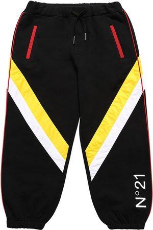 Nº21 Pantaloni In Felpa Di Cotone Con Nylon