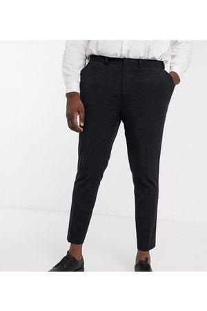ASOS Plus - Pantaloni eleganti super skinny cropped neri