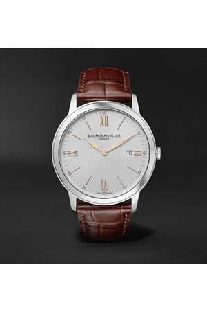 Baume & Mercier Classima Quartz 42mm Stainless Steel and Croc-Effect Leather Watch, Ref. No. 10415
