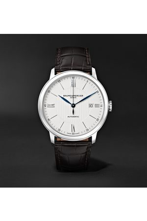 Baume & Mercier Uomo Orologi - Classima Automatic 40mm Stainless Steel and Alligator Watch, Ref. No. M0A10214