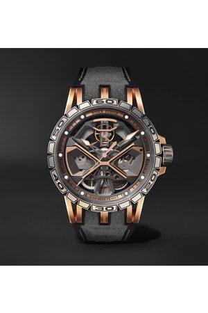 ROGER DUBUIS Uomo Orologi - Excalibur Huracán Automatic Skeleton 45mm 18-Karat Pink Gold, Titanium and Rubber Watch, Ref. No. RDDBEX0750