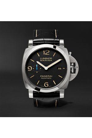 PANERAI Luminor Marina 1950 3 Days Acciaio Automatic 44mm Stainless Steel and Alligator Watch, Ref. No. PAM01312