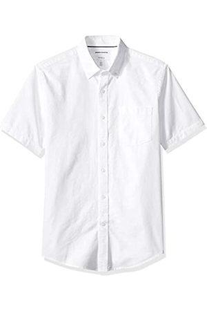 Amazon Camicia da uomo a maniche corte con tasca, modello Oxford, vestibilità slim, , US XL