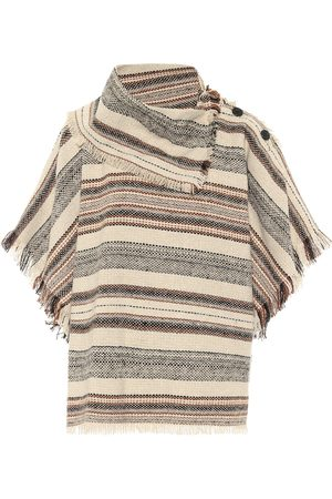 Isabel Marant Poncho Jacoya a righe in tweed