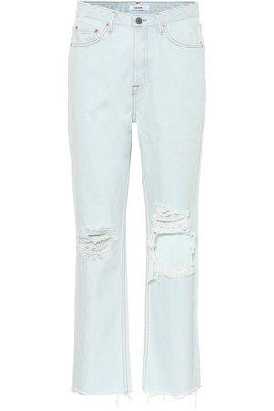 GRLFRND Jeans regular Mica a vita alta distressed