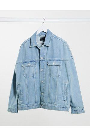 ASOS Giacca di jeans oversize lavaggio chiaro