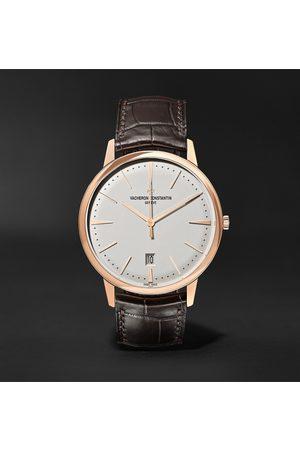 Vacheron Constantin Uomo Orologi - Patrimony Automatic 40mm 18-Karat Pink Gold and Alligator Watch, Ref. No. 85180/000R-9248