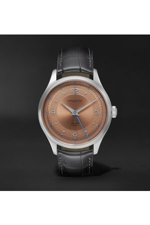 Mont Blanc Uomo Orologi - Heritage GMT Automatic 40mm Stainless Steel and Alligator Watch, Ref. No. 119950
