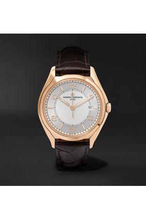 Vacheron Constantin Uomo Orologi - Fiftysix Automatic 40mm 18-Karat Pink Gold and Alligator Watch, Ref. No. 4600E/000R-B441 X46R2019