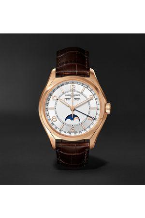 Vacheron Constantin Uomo Orologi - Fiftysix Automatic Complete Calendar 40mm 18-Karat Pink Gold and Alligator Watch, Ref. No. 4000E/000R-B438